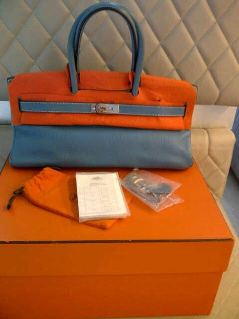 Preowned Hermes Birkin Shoulder Stamp i Completed with box Excellent conditions >80% like new