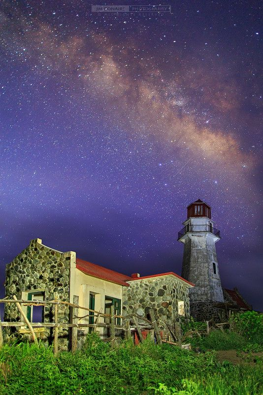 Under the Milky Way - Mahatao Lighthouse in Batanes, Philippines