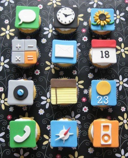 those apps look appetizing: Cakes Ideas, App Cupcakes, Iphone Application, Food, Delicious Iphone, Iphone Cupcakes, Appetizers App, Yummy, Cupcakes Rosa-Choqu