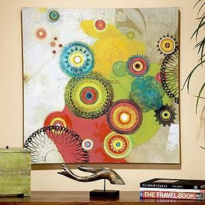 "Rubin ""Intangible Era""Wall Art, Rubin Intangible, Living Rooms, Intangible Era, Wall Painting, Living Room Redo, Marketing Wall, Bright Colors, Bedrooms Wall"