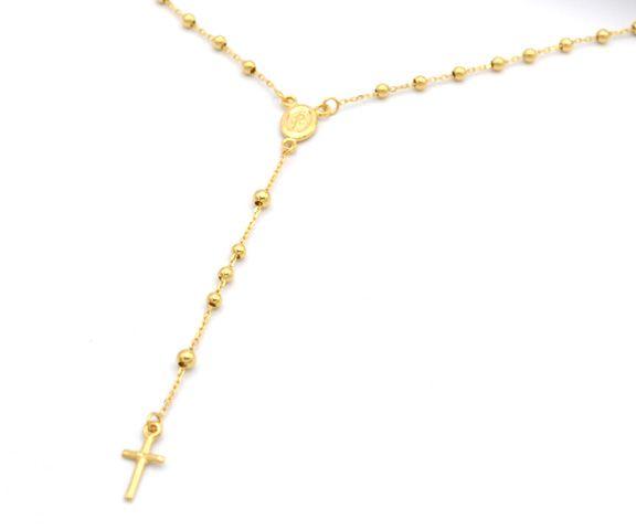 9c567dcec Zlatý jemný unisex řetízek, typ růženec s křížkem. Levné nové zlato! Velmi  elegantní