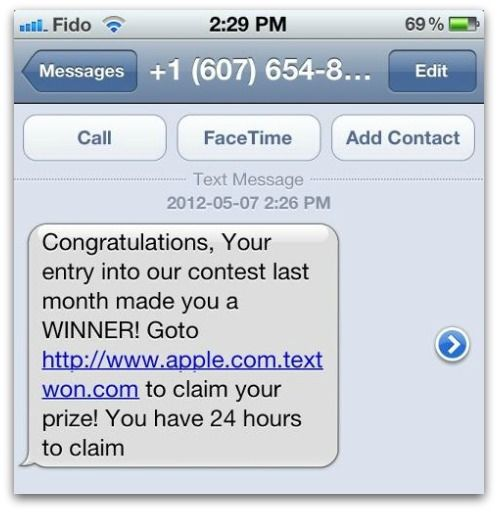 Fraudsters spam out scams via SMS text messages