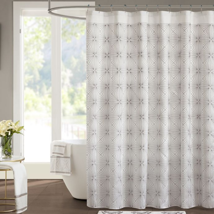 Jla Coty Shower Curtain Bed Bath Beyond White Shower Curtain