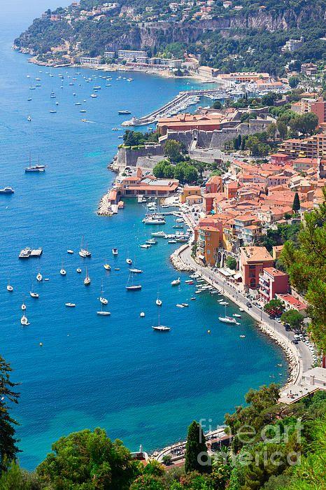 Luxury resort and bay with yachts of cote dAzur, Nice, Cote France. French Riviera #AnastasyYarmolovichFineArtPhotography  #ArtForHome #France #Provence