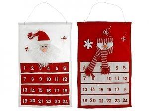 Joulukalenteri huopa, joulupukki