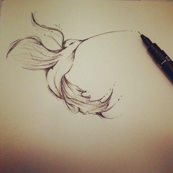 #art #tattoo Humming-bird