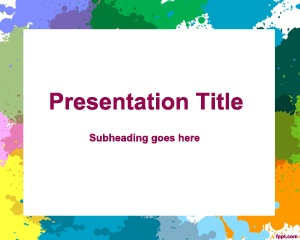 Free Canvas PowerPoint Template for art and galleries