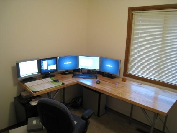 Corner Computer Table Designs: 665 Best Computer Desk Ideas Images On Pinterest