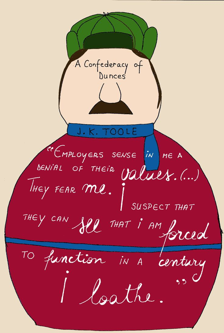 a confederacy of dunces by john Analysis a confederacy of dunces (1980)  john kennedy toole (1937-1969) introduction  john kennedy toole of new orleans could not find a publisher for his comic novel a confederacy of.