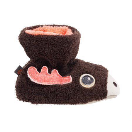 Acorn Kids Toddler Easy Critter Moose Bootie, Toddler Boy's, Size: Medium, Brown