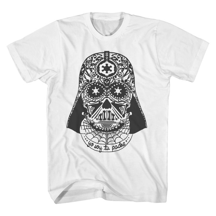 Men's Big & Tall Star Wars Soy Tu Padre Darth Vader T-Shirt White Xxl Tall, Size: Xxxl Tall