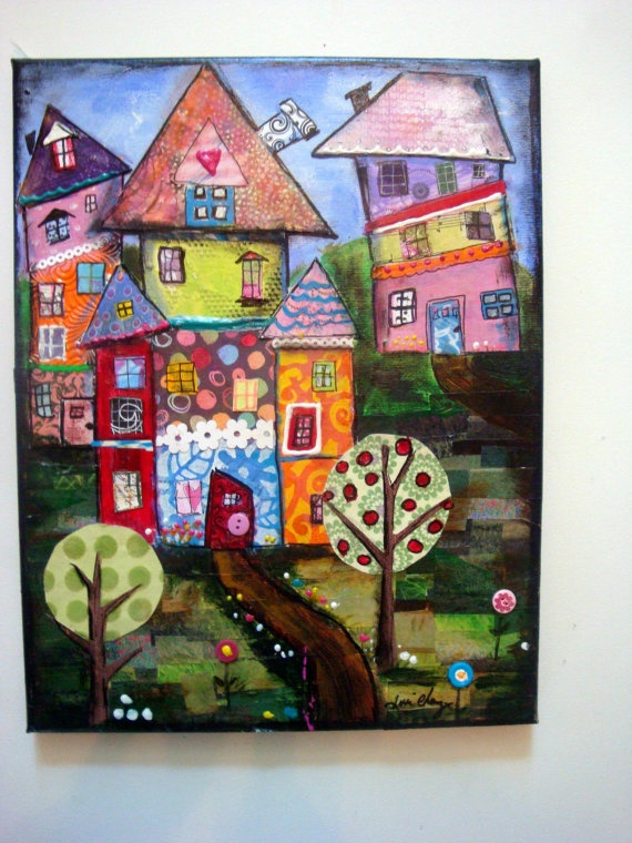 Mixed Media Collage Canvas
