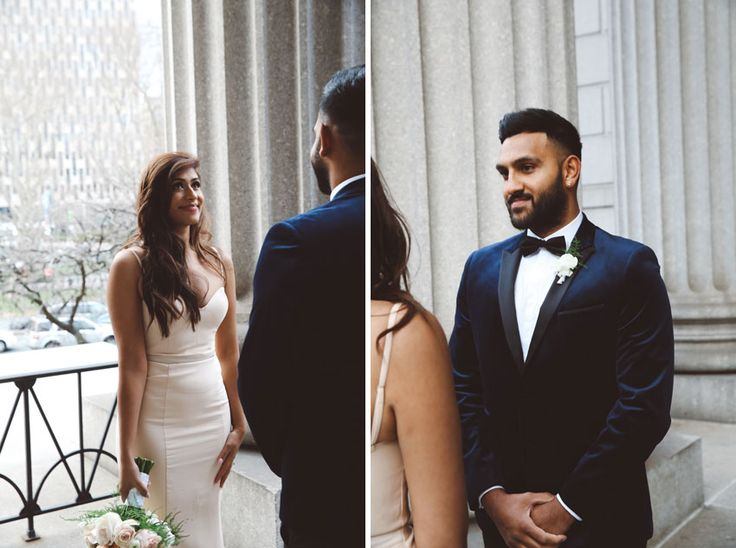 Pooja And Jay Live In The Australia But Wanted To Have A Stylish NYC Elopement Since City Hall Was Extremely Busy David Officiated Ceremony