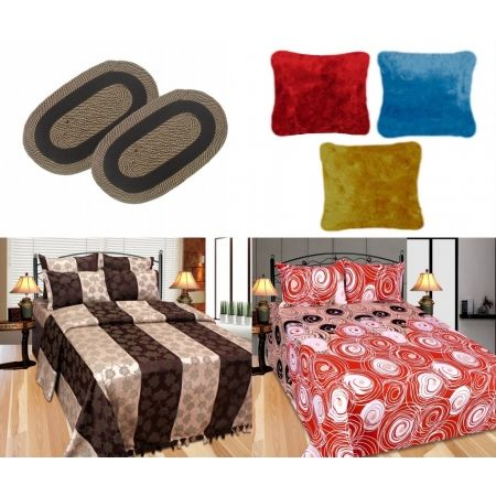 Mebelkart is offering Polycotton Combo Set Of Door Mats,Cushion,Bedsheet,Bed Cover 031@ Rs 1,055 How to catch the offer: Click here for offer page Add Polycotton Combo Set Of Door Mats,Cushion,Bedsheet,Bed Cover 031 in your cart Login or Register Fill the shipping details Make final payment