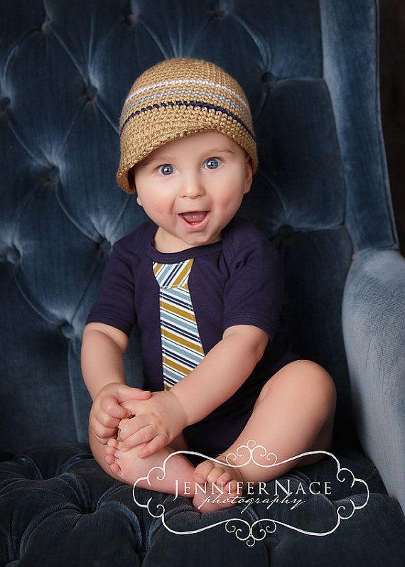Boy Hat Outfit  Newborn to 18 months Get the Set  by WeChooseJoy, $39.50