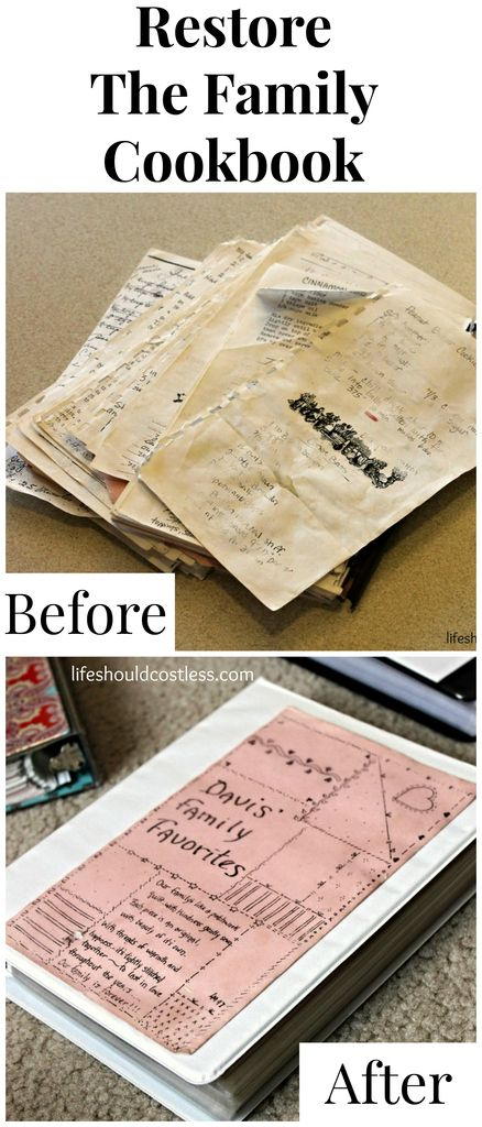 Restoring The Family Cookbook. Tips to make it much less of a hassle. Plus, it's a very thoughtful and inexpensive gift idea.{lifeshouldcostless.com}