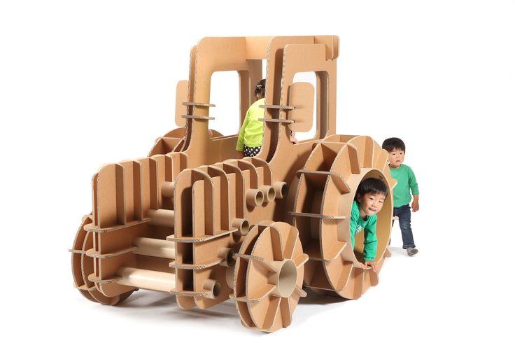 Гофрированный картон - чудеса преображения: японская мебель для детей от Мисахиро Минами
