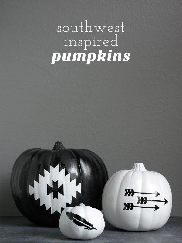 DIY Southwest Inspired Halloween Pumpkins