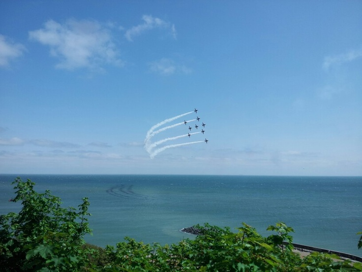 My favourite photo from the Red Arrows display in Folkestone yesterday 8th June 13