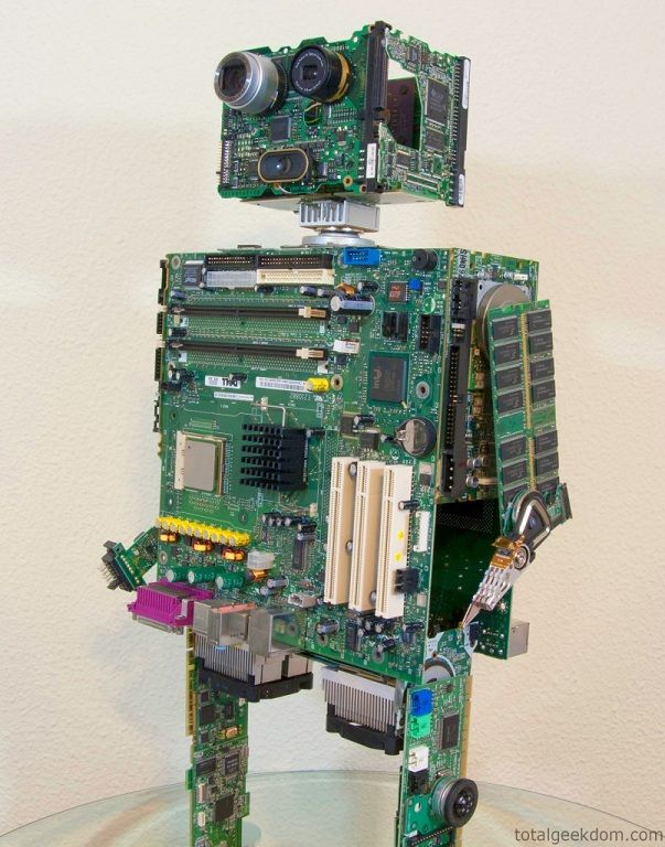 how to make a walking robot with household items