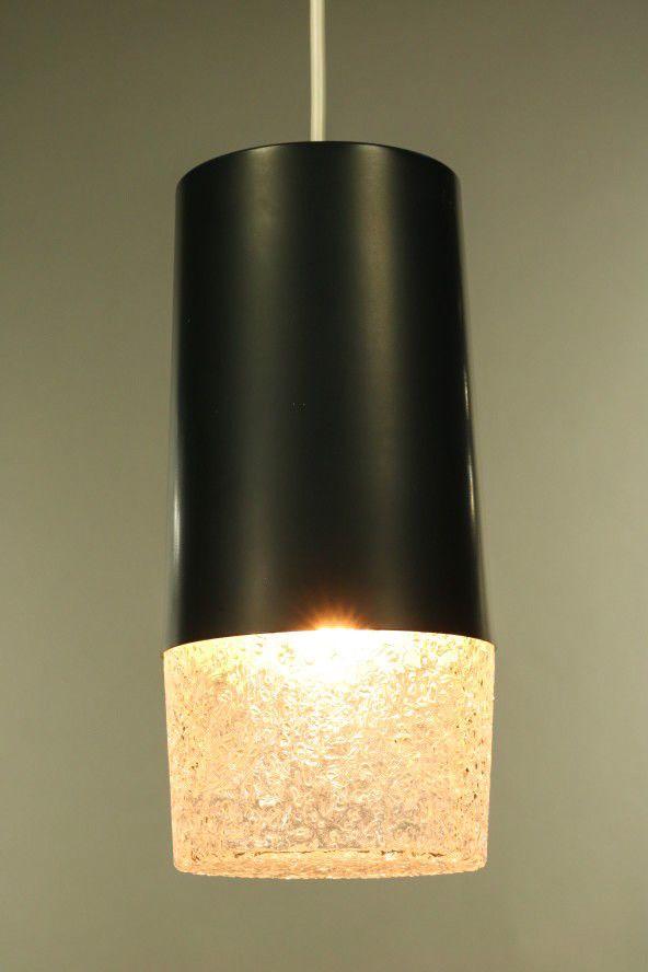 Doria Pendel Leuchte Alu Glas Kolben Hange Lampe Vintage 60er 70er