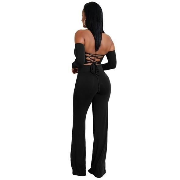 Glamaker Womens Csual Summer Sleeveless Backless Cotton Wide Leg Cropped Jumpsuit Long Romper Pants Suit