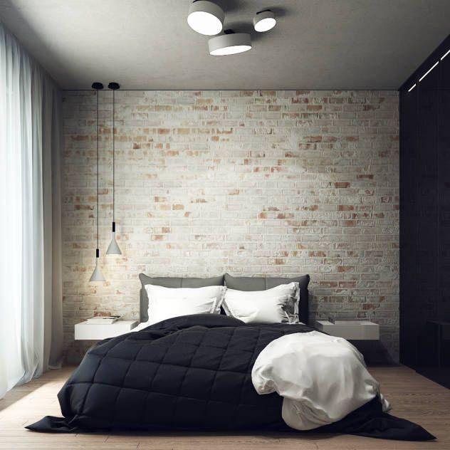 Camera da letto minimalista di Projecto2