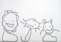 画:ライオンと猫と鼠 筆:こども店長
