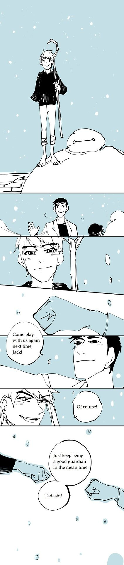 Big Hero 6 and Rise of the Guardians crossover - pg14