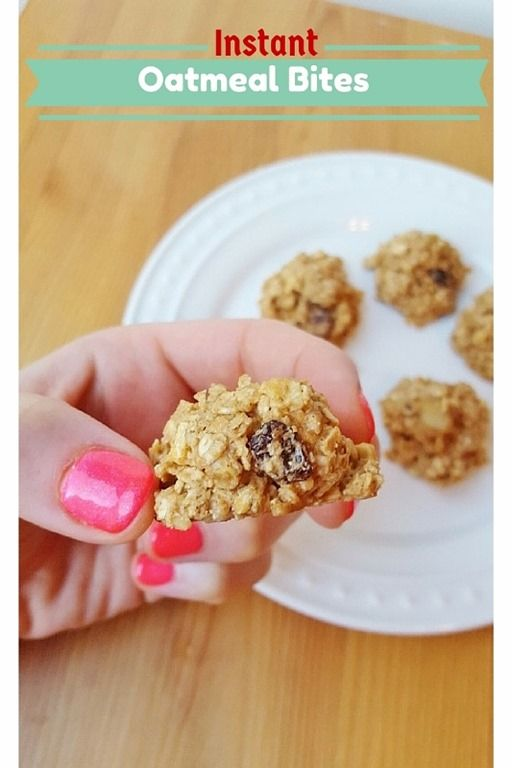 Instant Oatmeal Bites Recipe Blog - use new gluten free Quaker Instant Oats for a GF version!!