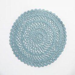 Adairs Kids Crochet Round Rug Mint, kids rugs, crochet rugs