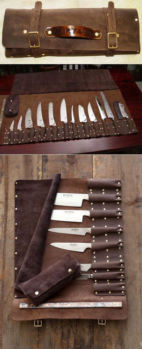 I may not travel with my knives but I want this knife roll... And set.