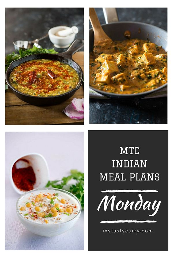 Indian Meal Plan Weekly Dinner Plan 8 Indian Food Recipes