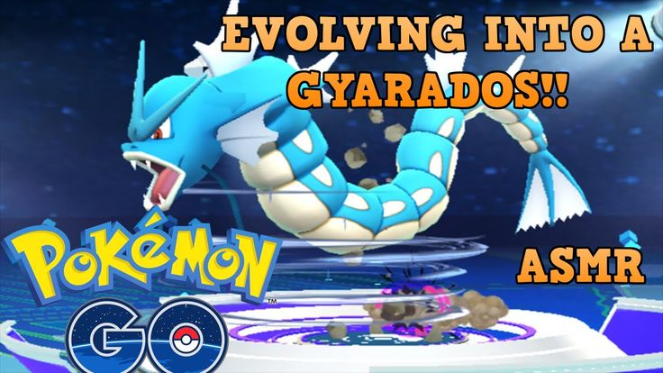 Watching Pokemon Evolutions to help you sleep! GYARADOS!! [gameplay][whispered]
