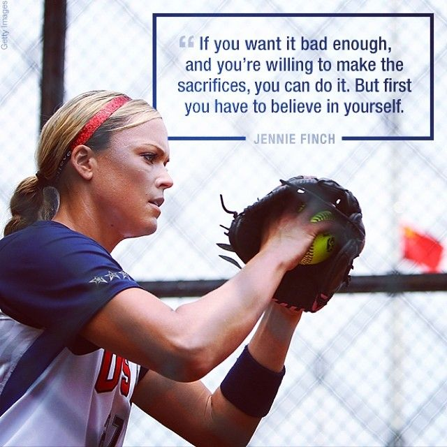 Gold medalist Jennie Finch recalls what it takes to become and Olympian #TeamUSA