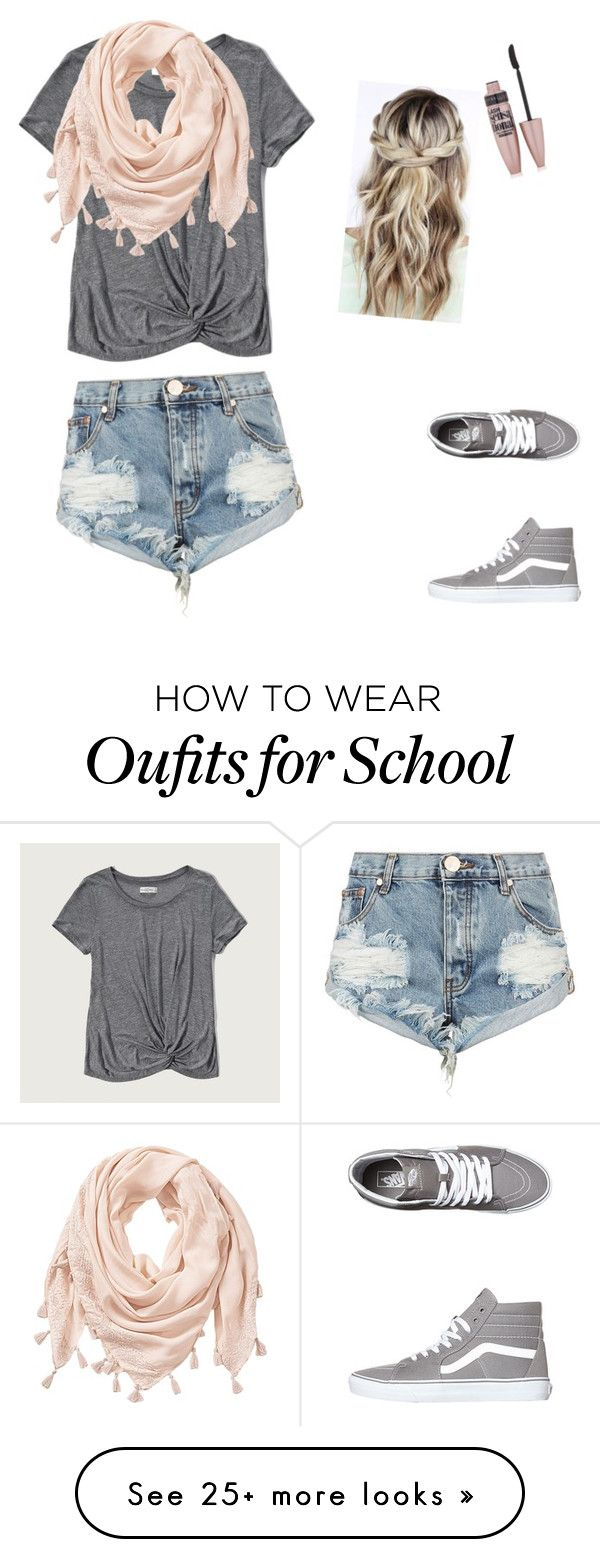 """School style."" by jess-k-vdh on Polyvore featuring Abercrombie & Fitch, One Teaspoon, Vans and Maybelline"