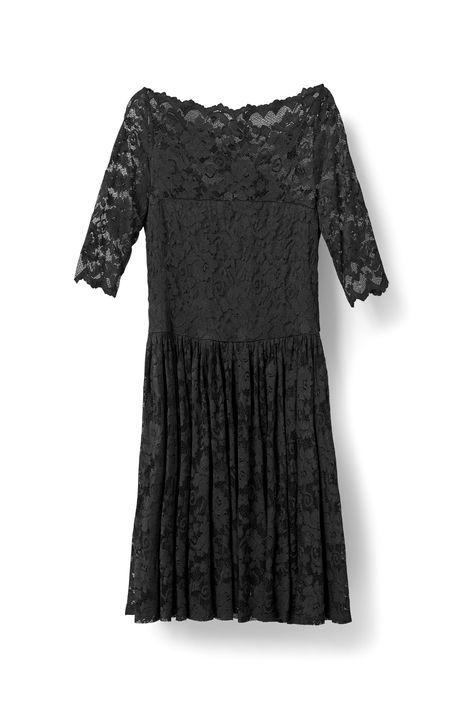 Ayame Lace Dress, Black