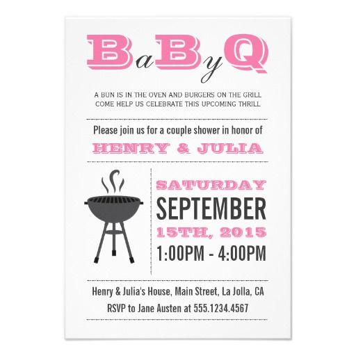 12 best summer time images on pinterest invites baby shower babyq bbq baby shower invitation couples girl pink pink bbq babyshower baby filmwisefo Image collections