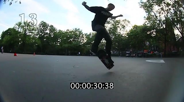 Skateboarding: Jereme Rogers Most Fakie Flips In One Minute (Clip)