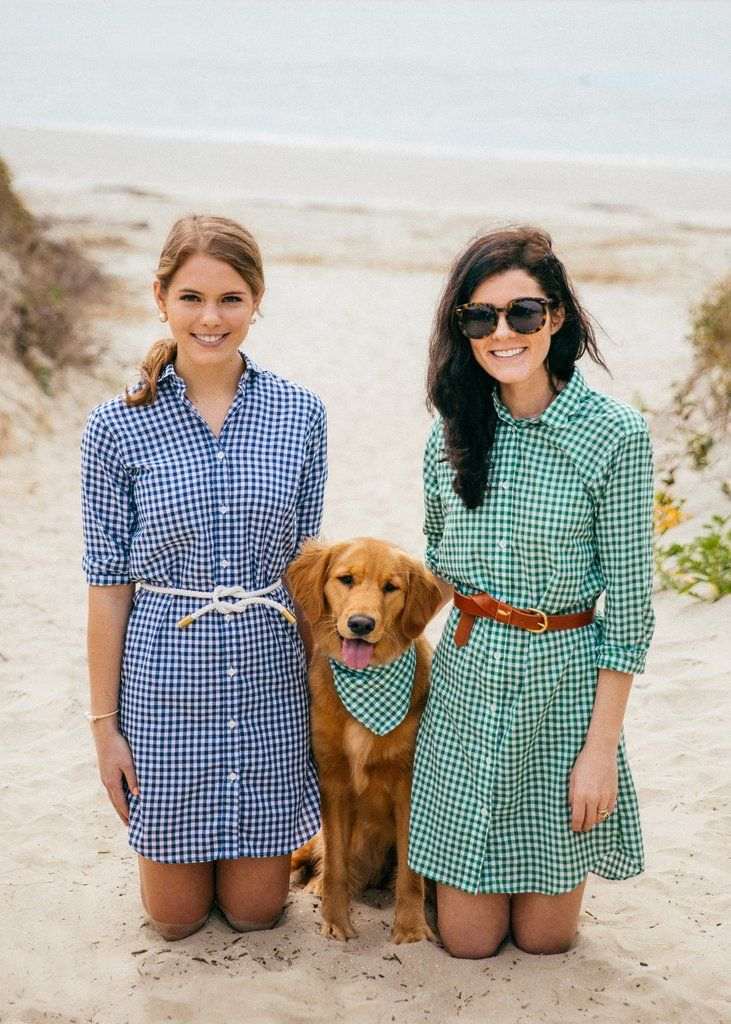 Gingham Scallop Oxford Dresses