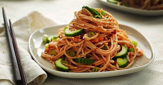 Forks Over Knives | Kimchi Noodle Salad