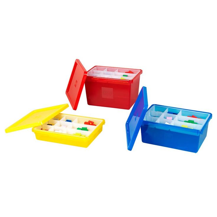 LEGO Storage Box with Sorting Tray and Lid