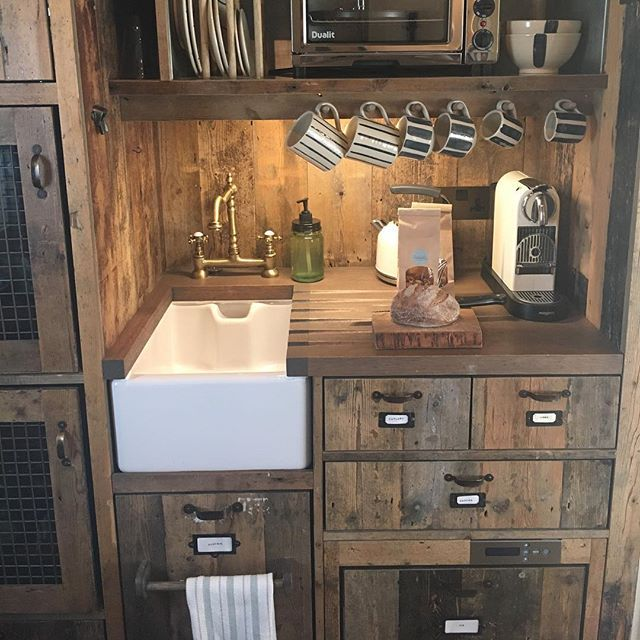 Cute cabin kitchen at Soho Farmhouse #countrystyle #bringthehousehome