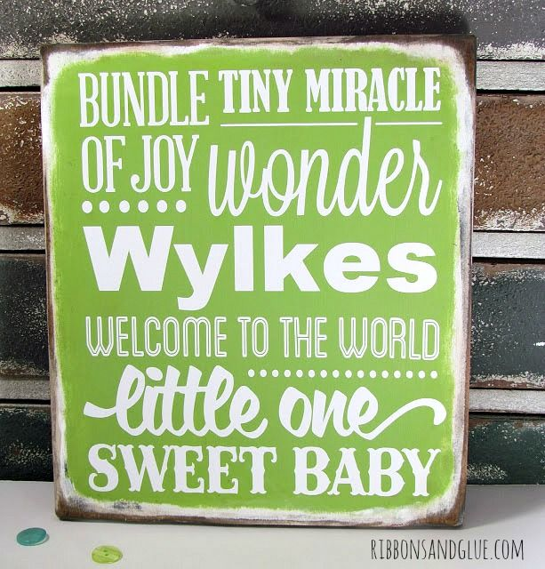 DIY Baby Subway Art made with @silhouettepins and vinyl! Great Baby Shower Gift!