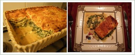 Silverbeet and cottage cheese lasagna