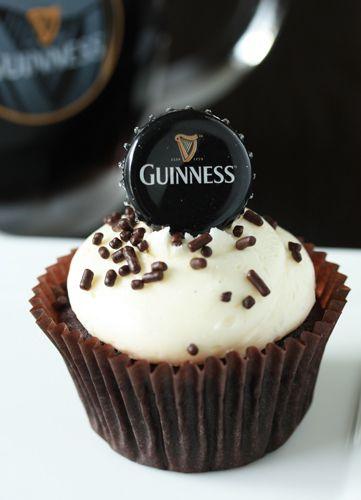 Guinness Cupcakes. http://www.mybakingaddiction.com/guinness-cupcakes/