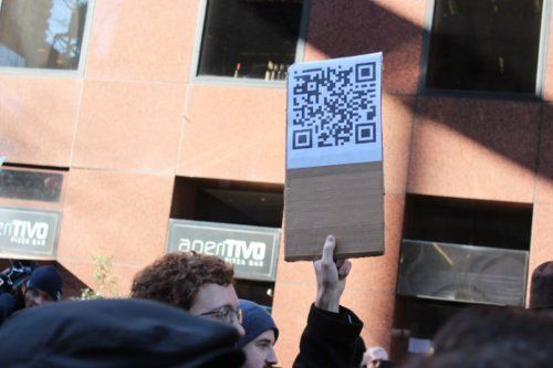 We're sending a message to the 1% of smartphone users that scan QR codes!