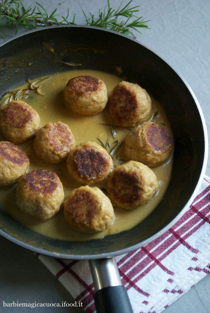 Polpette di pollo alla senape con limone e rosmarino