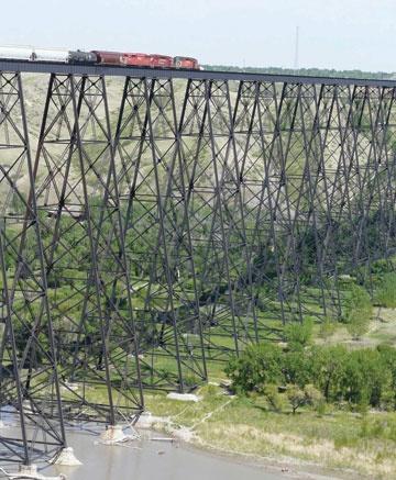 100 year old viaduct in Lethbridge Alberta.