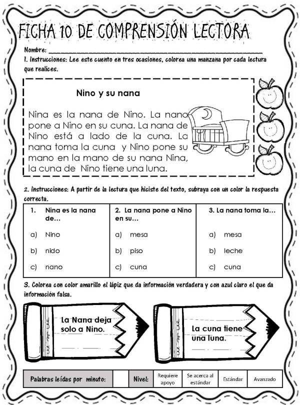 Lecturitas I Fichas De Comprensión Lectora Página 13 Comprensión Lectora Lectura De Comprensión Lecturas Para Comprension Lectora